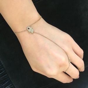Purple Hamsa finger chain Bracelet